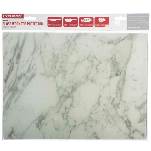 Typhoon Grey Marble Glass Worktop Chopping Cutting Board